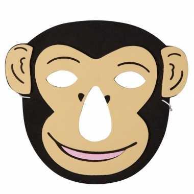 Aap foam dierenmasker voor kinderen