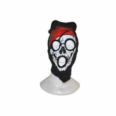 Bivakmuts met piraten schedel masker