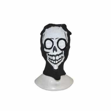 Bivakmuts met schedel gezicht masker