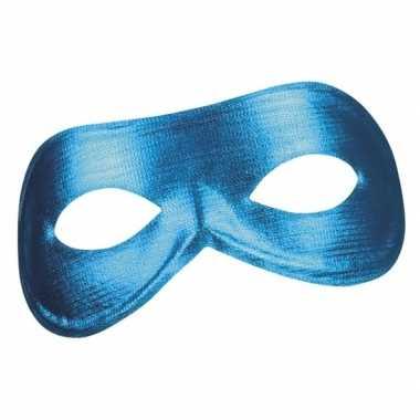 Blauw metallic oog masker voor dames