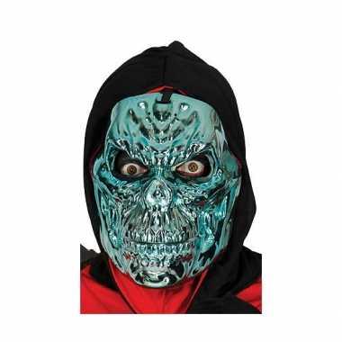 Blauw skeletten masker voor Halloween feest
