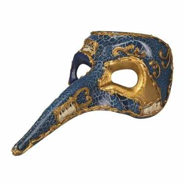 Blauw venetiaans masker voor heren