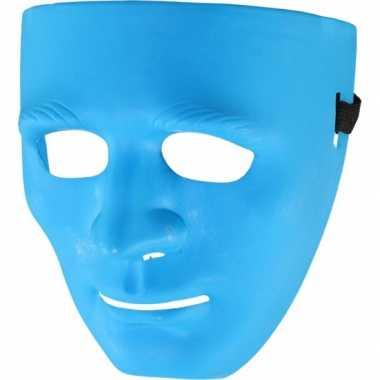 Blauwe maskers