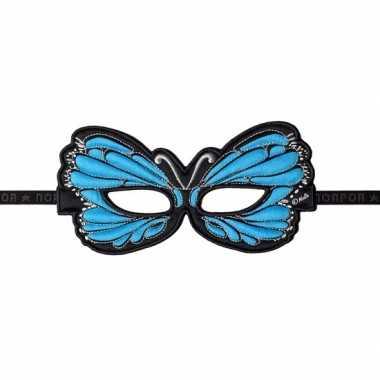 Blauwe oogmasker van een vlinder