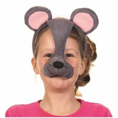 Diadeem muizen masker met geluid