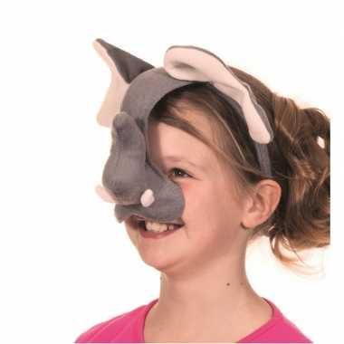 Diadeem olifant masker met geluid