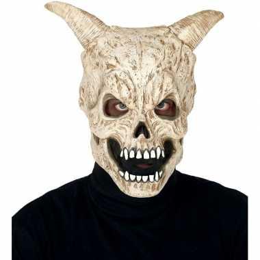 Duivel schedel met hoorns monster masker van latex