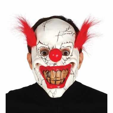 Enge clown maskers met rood haar