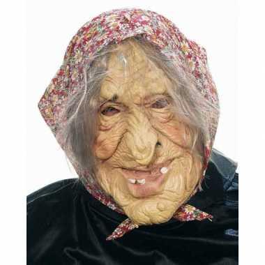 Enge oude vrouw masker