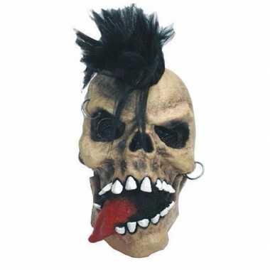 Enge punk doodshoofd horrormasker