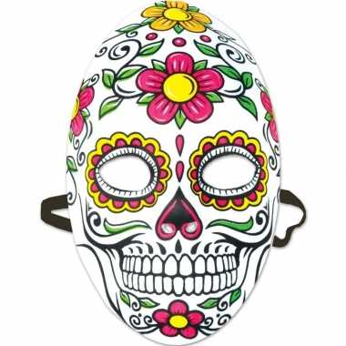 Feest/party mexicaans doodshoofd masker dag van de doden/day of the d
