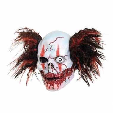Feestmasker horror clown one eye