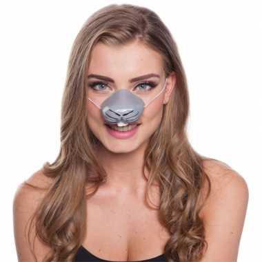 Feestneus konijnen voor volwassenen masker