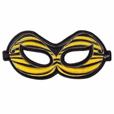 Geel oogmasker van een bij
