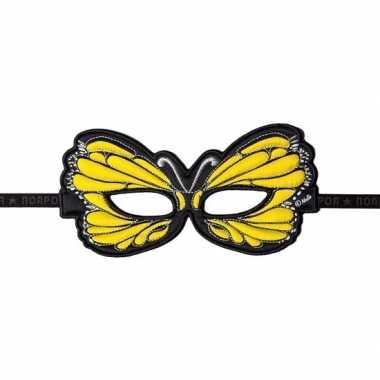Geel oogmasker van een vlinder