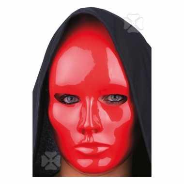 Gezichtsmasker rood