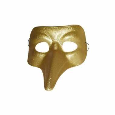Goud met glitters snavelmasker