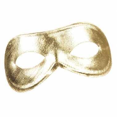 Goud metallic oog masker voor dames