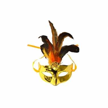 Gouden oogmasker plastic