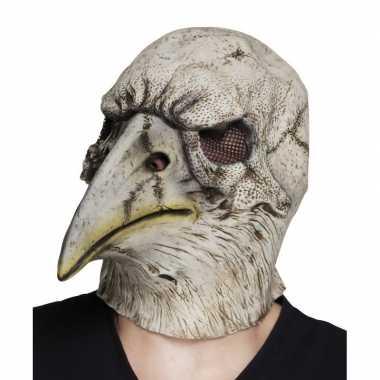 Grijze dode adelaars vogel masker van latex