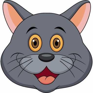 Grijze katten maskers knutselen pakket