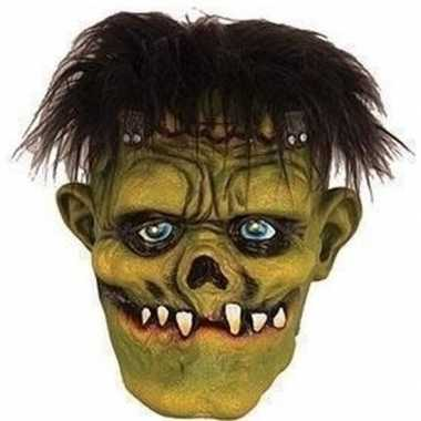 Groen horror frankenstein monster masker van latex