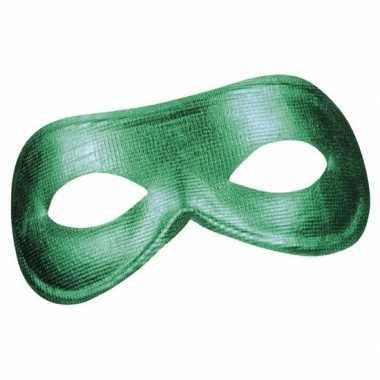 Groen metallic oog masker voor dames