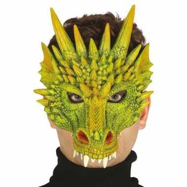 Groene draak monster masker van foam