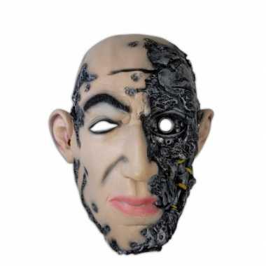 Halloween thema masker cyborg