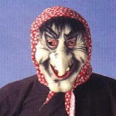 Heksenmasker met grote neus
