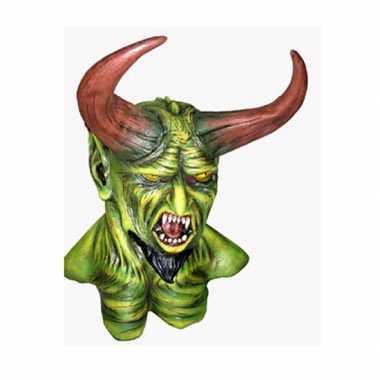 Horror monster masker met hoorns