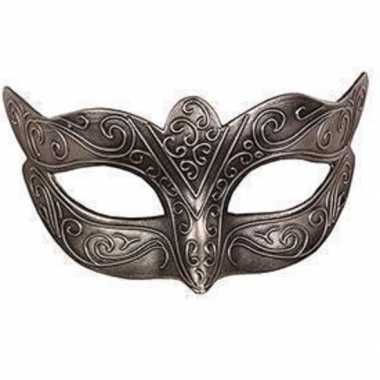 Italiaans oogmasker zilver