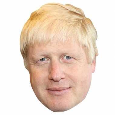 Kartonnen boris johnson feest masker minister-president van groot bri