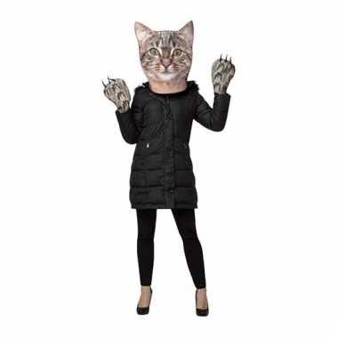Kattenkop verkleedset voor volwassenen masker