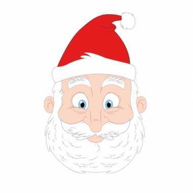 Kerstman maskers knutselen pakket