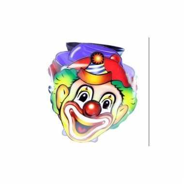 Kindermaskers clowns 4 stuks