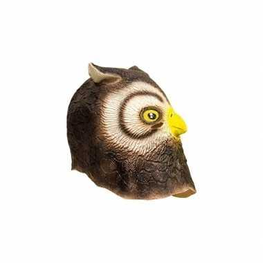 Latex dieren masker uil