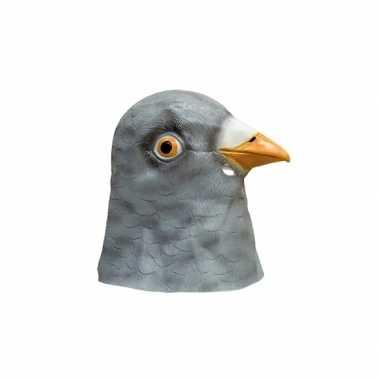 Latex dieren masker van een duif