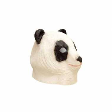 Latex dieren masker van een panda