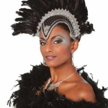 Luxe hoofdtooi zwart voor dames masker