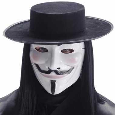 Masker V for Vendetta wit