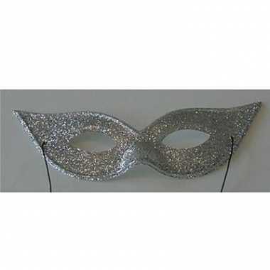 Oogmaskers met zilverkleurige glitters