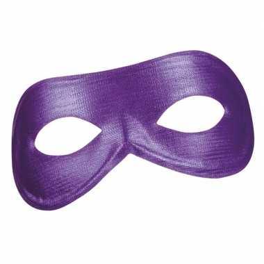 Paars metallic oog masker voor dames