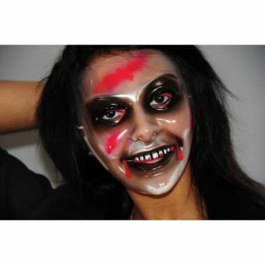 Plastic zombie vrouw masker