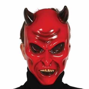 Rood duivel masker voor volwassenen