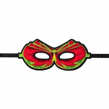 Rood oogmasker van een draak