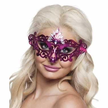 Roze diamant oog masker voor dames
