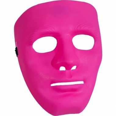 Roze gezichtsmasker