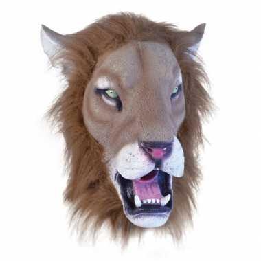 Rubberen masker leeuw