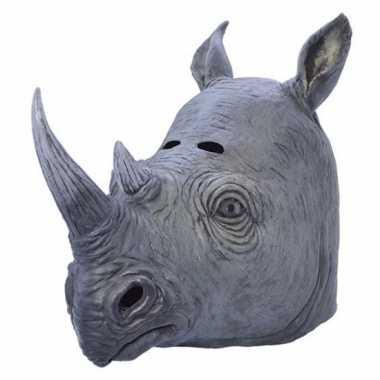 Rubberen masker neushoorn